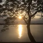 Ondergaande zon boven de Mekong