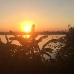 Ondergaande zon boven Thailand...