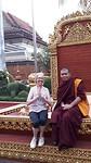 Statiefoto na een gesprekje met een monnik in de tempel van Siem Reap