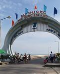 Door de poort van Phu Quoc island.