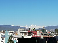 Himalayas view from the guest house