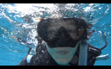 Hugo onder water
