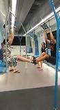 Gym in de trein