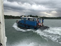 De overtocht naar Pulau Ubid