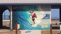 Surfing santa, Lennox head