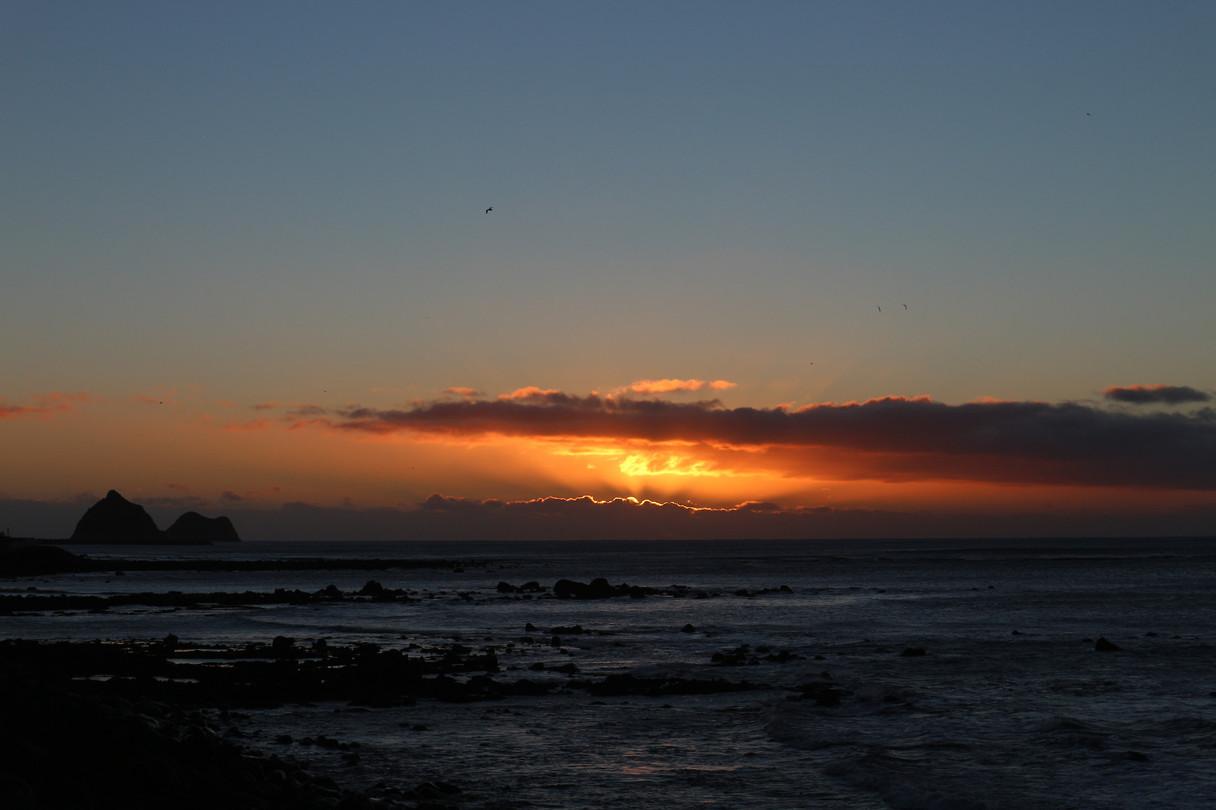 Ondergaande zon New Plymouth