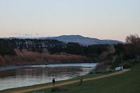 Manawatu river bij schemer 2
