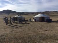 De yurts van de gastfamilie