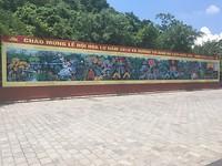Muurtekening bij de tempels in Hao Lu