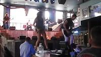 band in Kid Rock's Hony Tonk Bar in Nashville