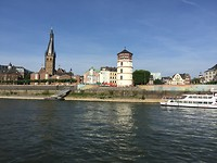 Zicht op Düsseldorf