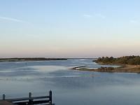 Havenmonding in de avond Brouwershaven