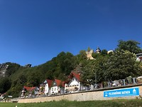 Rathen aan de Basteikant van de Elbe