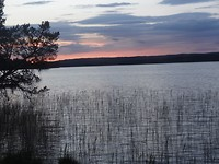 Bijna zonsondergang camping Vilhelmina
