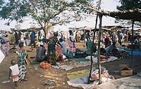 de lumo (wekelijkse markt) in Farafenni