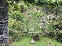 Spinnenweb in Art Garden