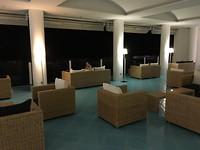 Lounge area bij Hotel Delfino