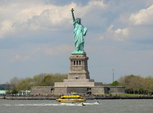 Het Vrijheidsbeeld   Foto   Vier op reis in Amerika