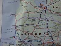 De rit van vandaag naar Kaunas, 282km