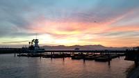 Zonsondergang Pier 39 met zeeleeuwen