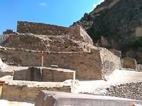Inca ruïne bij Ollantaytambo