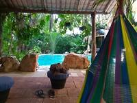 Zwembad bij hotel in Ticul