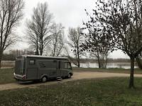 Overnachten pal aan de Loire.