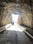 Fietsen in de tunnel