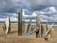 D-day monument Omaha beach.