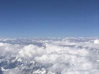 Vlucht over Himalaya