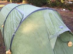 IJs op de tent!