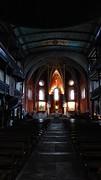 In kerk Urrugne.