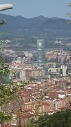 Eerste zicht op Bilbao.