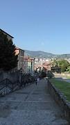 Afdaling in Bilbao naar stadscentrum.