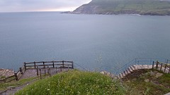 Mooi kustpad vanuit Pobeña, helaas wel in de regen.