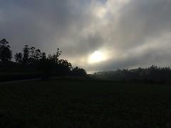 Mooi zicht vanmorgen toen bewolking oploste.
