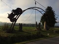 Kunstwerk nabij As Mamoas.