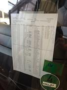 Passagierslijst bus naar huis.