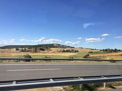 Vanuit de bus Villarejo de Órbigo.