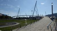 Voetgangersbrug bij binnenkomst Ferrol.