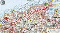 Etappe Santander-Santillana del Mar 34km.