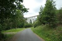 Enorme spoorbrug bij A Ponte Ulla.