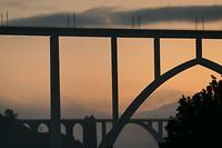 Spoorbrug A Ponte Ulla vanmorgen.