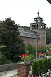 Stukje abdij Leffe met klokkentoren