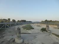Rivier Trebia volledig droog