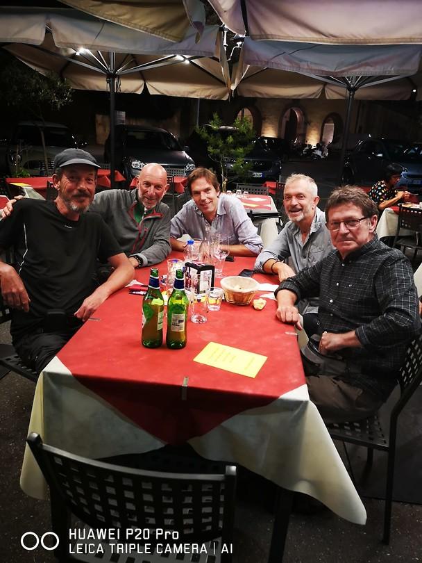 Met Aldo, Didier, Bruno en Michel