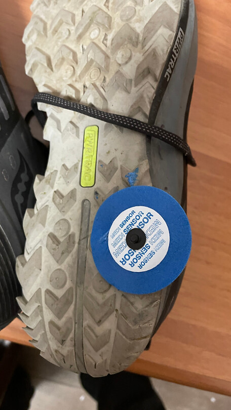 Sensor onder schoen