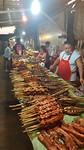 Overzichtsfoto van het BBQ Festijn...vis vlees...voor ieder wat wils