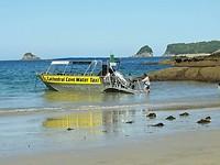 Watertaxi van Cathedral Cove naar Hahei Beach
