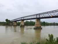 De Garonne is hier al een getijdenrivier.